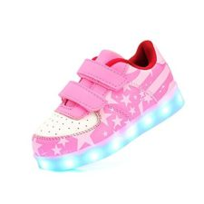DoGeek Zapatos Led Niñas Deortivos Para 7 Color USB Carga LED Luz Glow USB Flashing Zapatillas niño (Elegir 1 tamaño más grande)