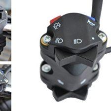 Interruptor de luces y claxon multifunción para motos – Apto para manillares de 22 mm