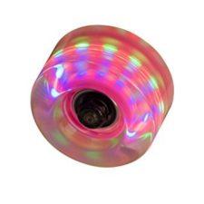 SFR – Set de ruedas para patines con luces (4 unidades) transparente transparente