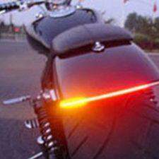 FuriAuto Luz Trasera Motocicleta Freno Gire Señal Luz Tira Integrado 12V 48LED SMD Flexible, Modelo Universal, Durable,Impermeable