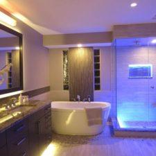 Baños con luces LED