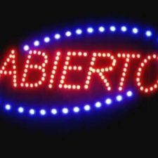 Letreros con luces LED