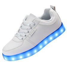 Angin-Tech Serie de Adultos Zapatillas LED USB de Carga de 7 Colores de Luz Zapatillas con Luces del Zapato por la Fiesta de Baile de Navidad de San Valentín con el CE Certificado