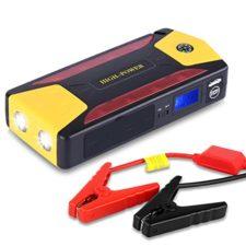 Arrancador de Coche de 20.000 mAh, Yokkao®, Jump starter Cargador para Baterías de 12V y Cargador de 15V, 16V, 19V, Batería Externa con Luces de Emergencia, Kit de Arranque para Coche, Moto y Cargador de Smartphone, Laptop, etc.