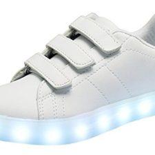 Santiro Unisex Muchacha de los Muchachos de La Carga del USB LED de Luz Luminosa Zapatillas Deporte Patín.