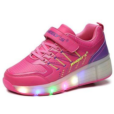 Voovix Los niños Jazzy Junior LED luz rueda Roller Shoes Zapatos Zapatillas Deportivas patines zapatos con ruedas zapatillas